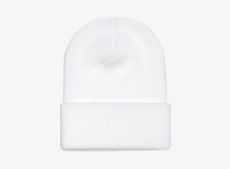 Yupoong - Fold Up Beanie - White
