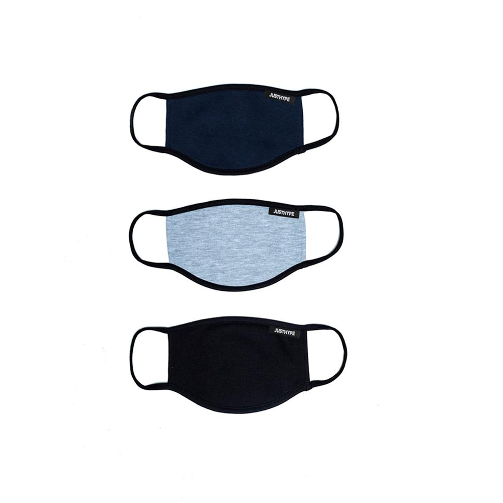 Hype - 3X Kids Dark Colours - Face Mask - Navy/Black/Grey