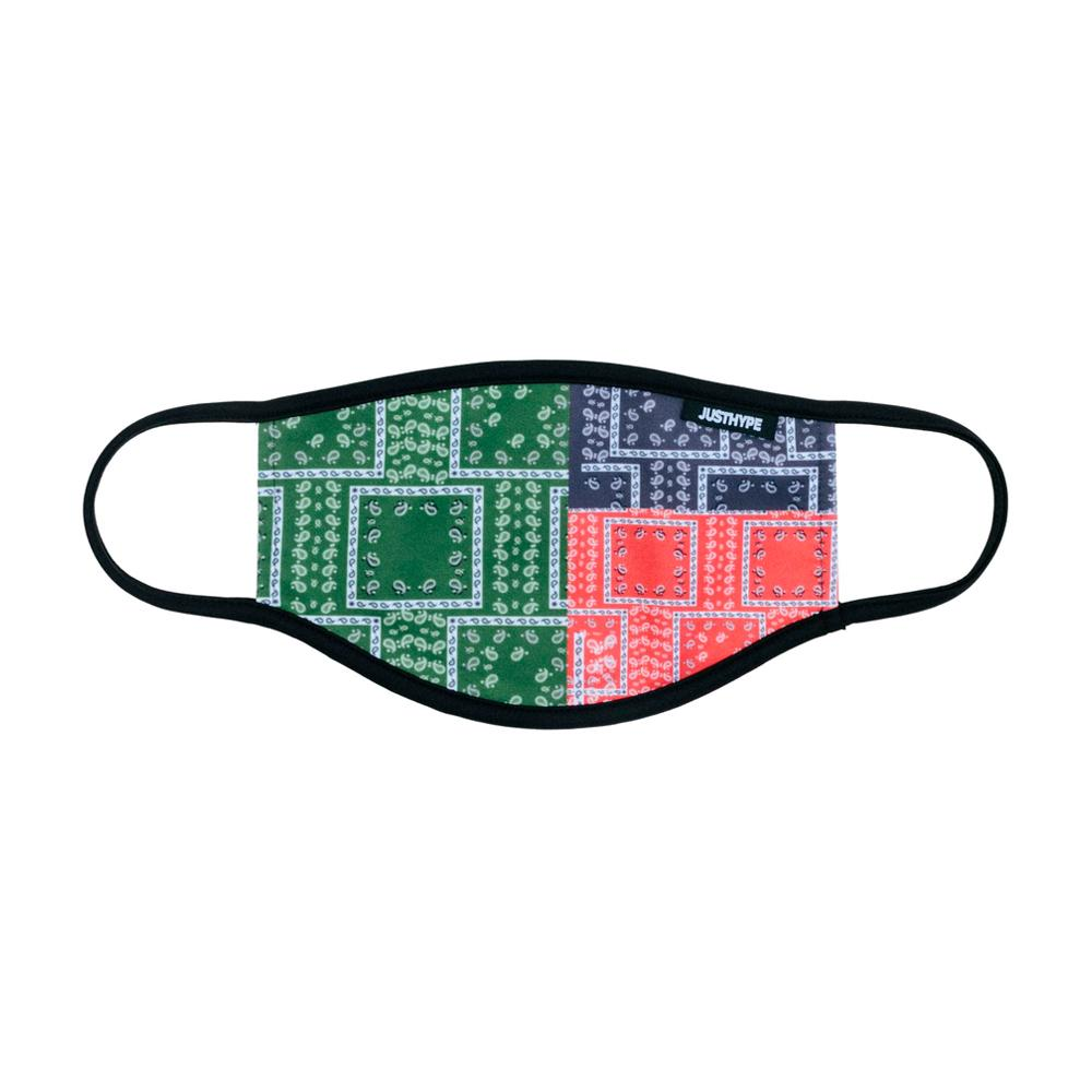 Hype - Adult Multi Bandana Squares - Face Mask - Multi Color