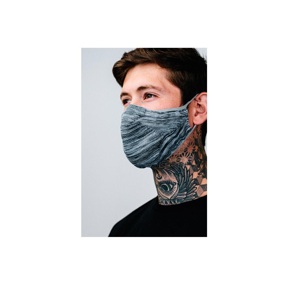 Hype - Adult Tech Knit - Face Mask - Grey Melange