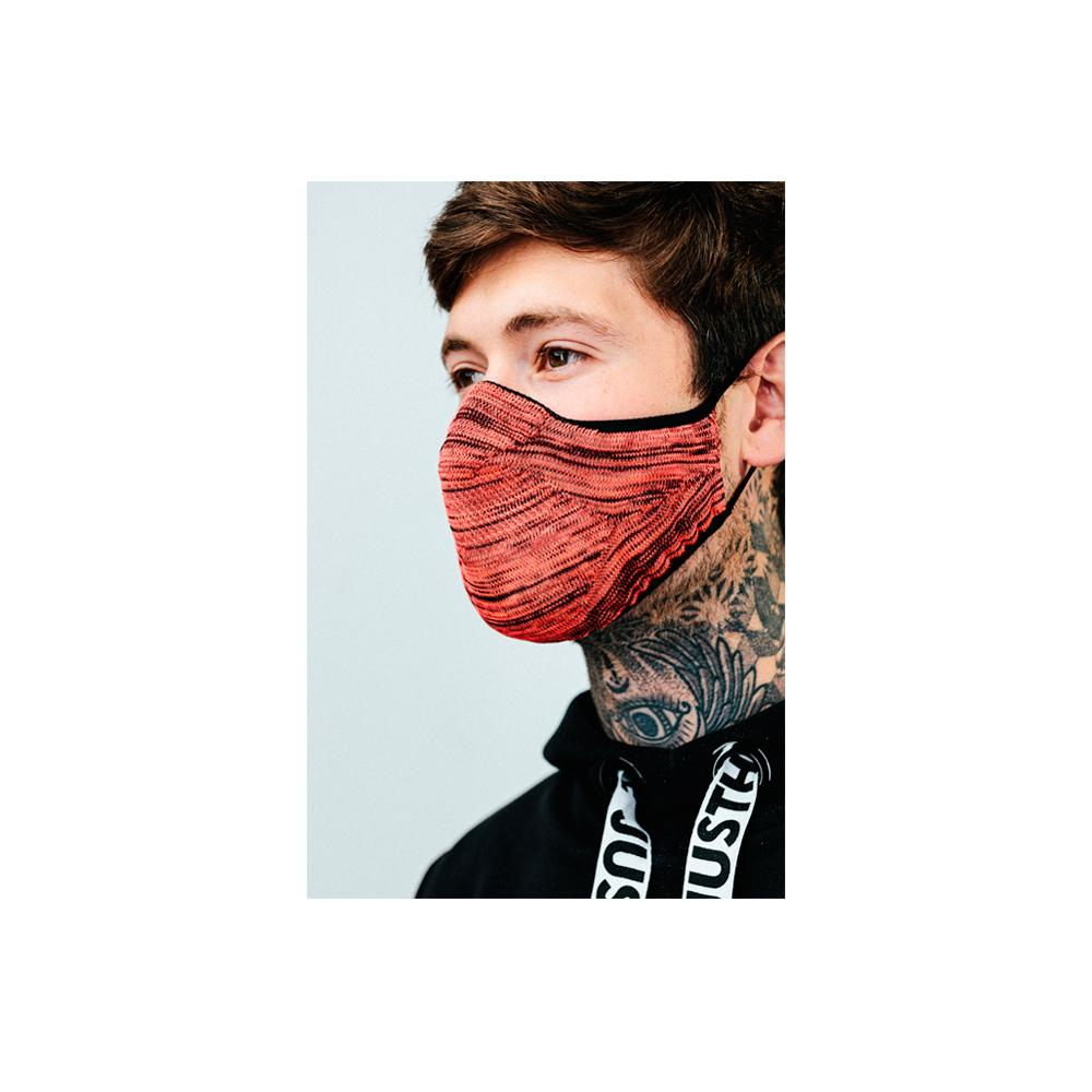 Hype - Adult Tech Knit - Face Mask - Pink/Black Melange
