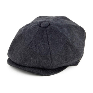 Jaxon & James - Pure Wool Harlem Newsboy - Sixpence/Flat Cap - Charcoal