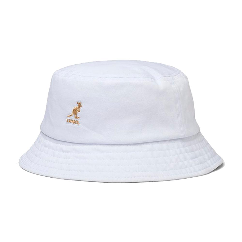 Kangol - Washed - Bucket Hat - White