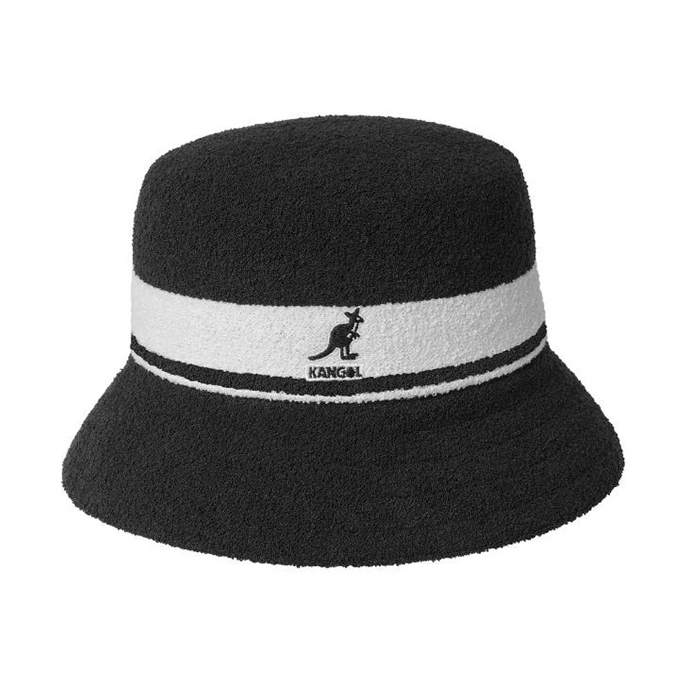 Kangol - Bermuda Stripe - Bucket Hat - Black