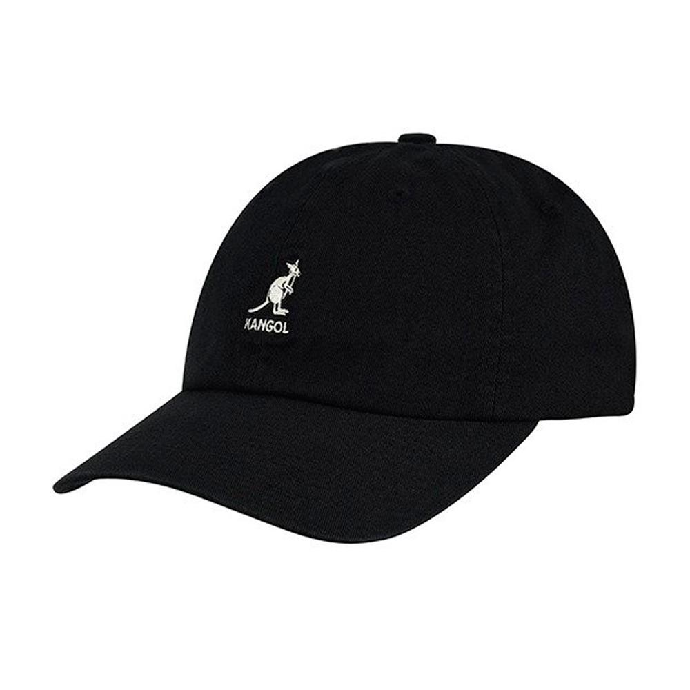 Kangol - Washed Baseball - Flexfit - Black