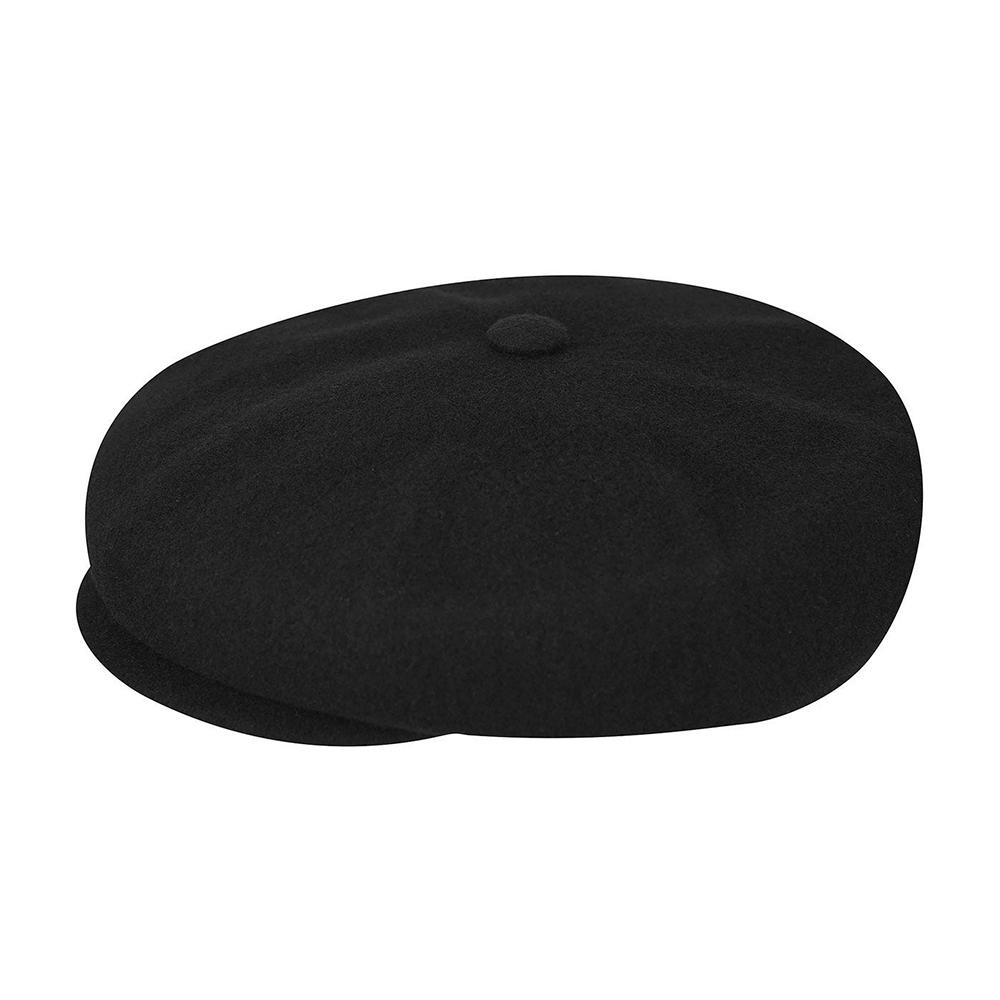 Kangol - Wool Hawker - Sixpence/Flat Caps - Black
