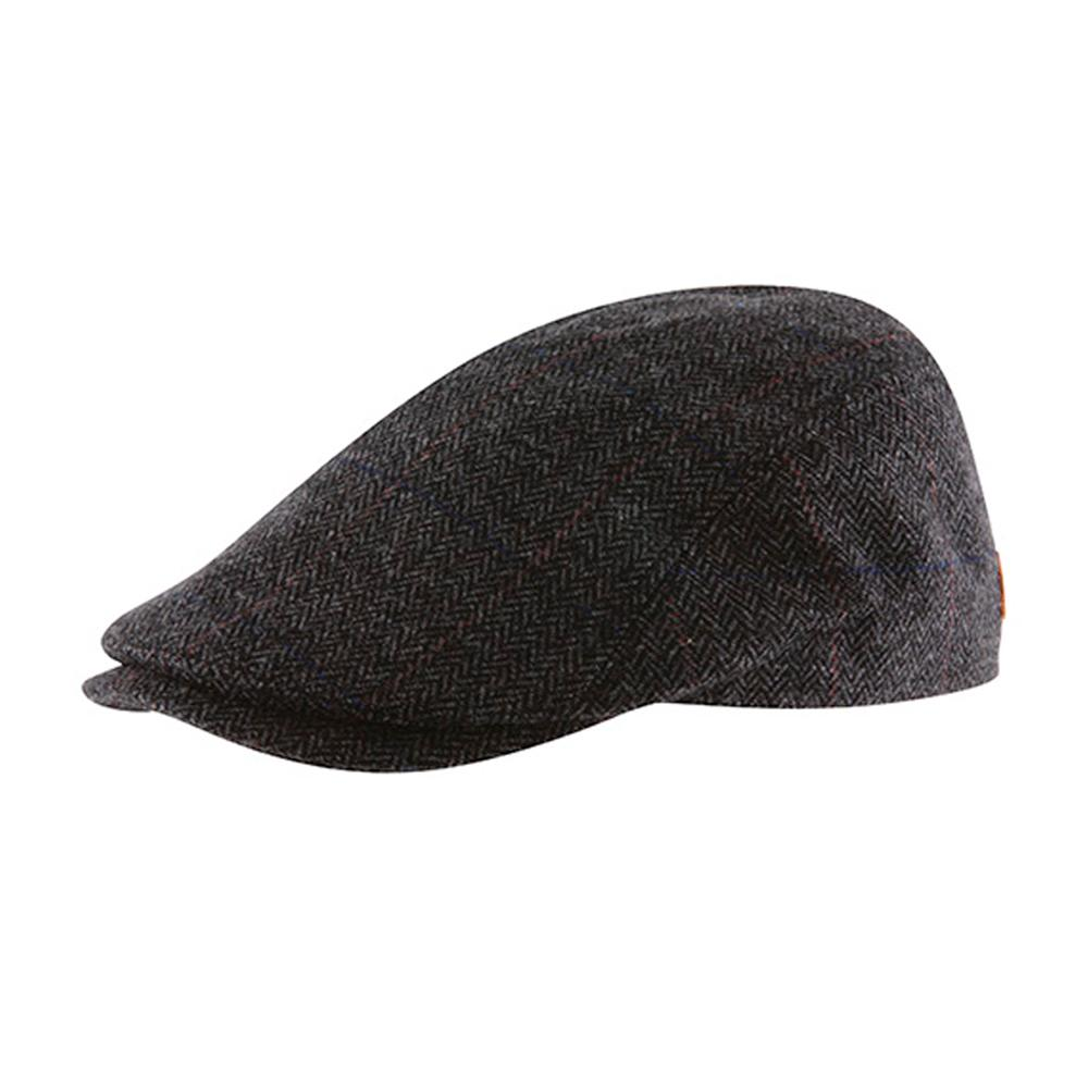 MJM Hats - Bang - Sixpence/Flat Cap - Anthracite Grey