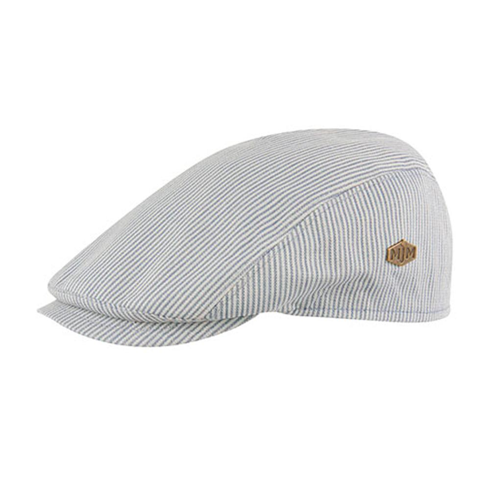 MJM Hats - Bang - Sixpence/Flat Cap - Blue Stripe