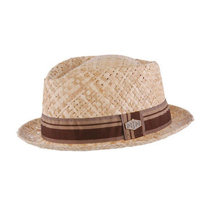 MJM Hats - Elmer Raffia - Straw Hat - Natural