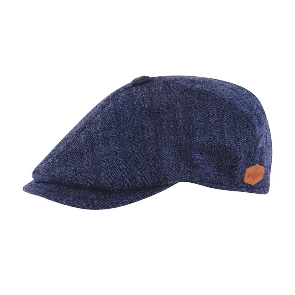MJM Hats - Rebel - Sixpence/Flat Cap - Blue
