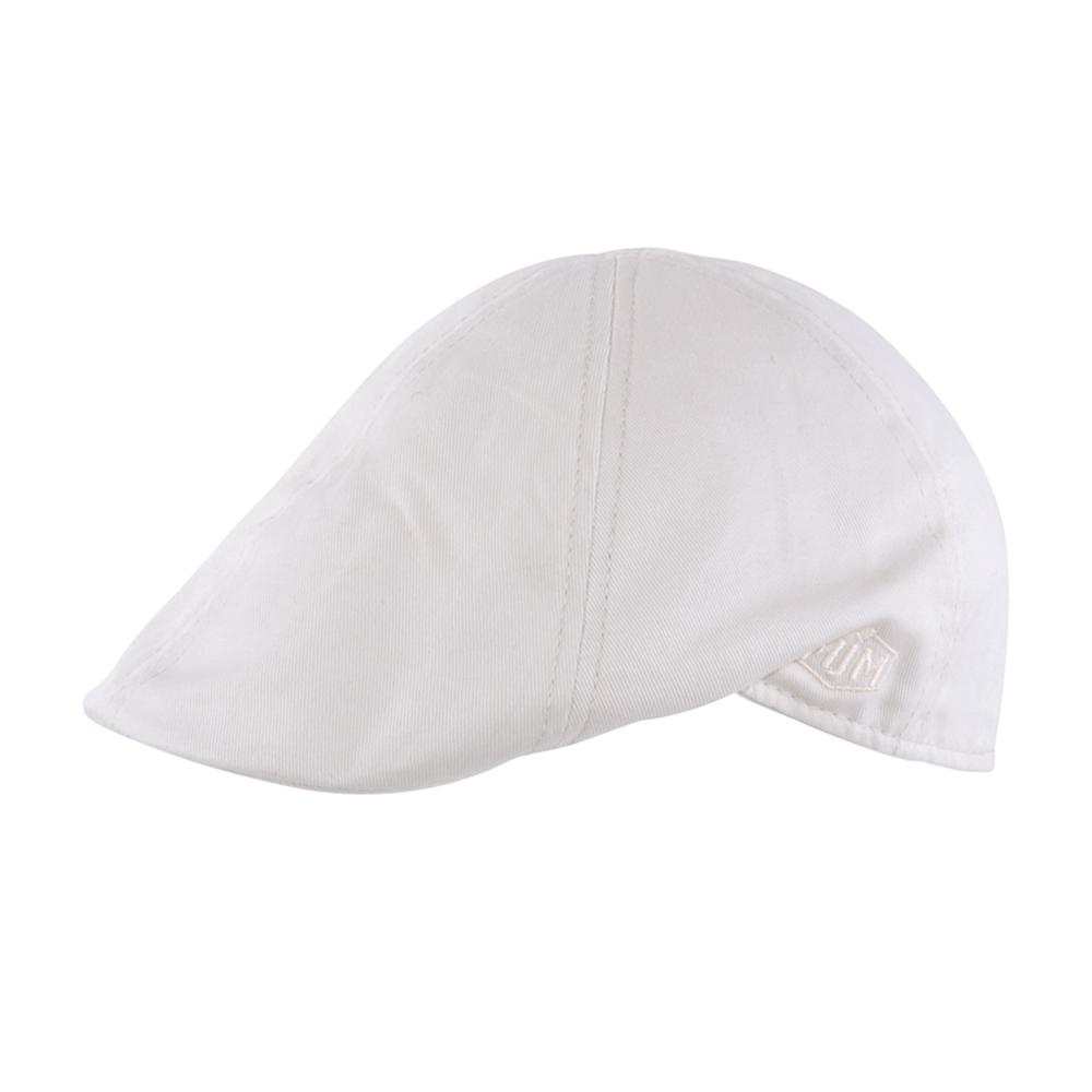 MJM Hats - Tiel 10186 - Sixpence/Flat Cap - Off White
