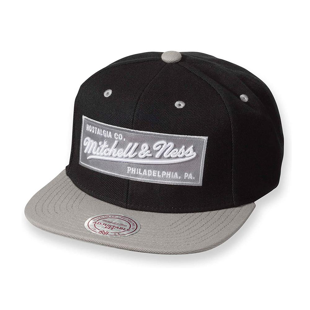 Mitchell & Ness - 2 Tone Label - Snapback - Black/Silver