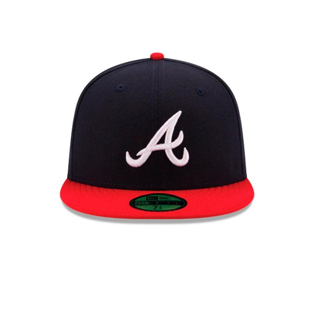 New Era - Atlanta Braves 59Fifty Authentic - Fitted - Navy/Red