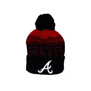 New Era - Atlanta Braves Sport Knit - Pom Beanie - Black/Red