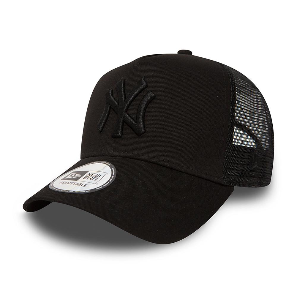 New Era - NY Yankees Clean - Trucker/Snapback - Black/Black