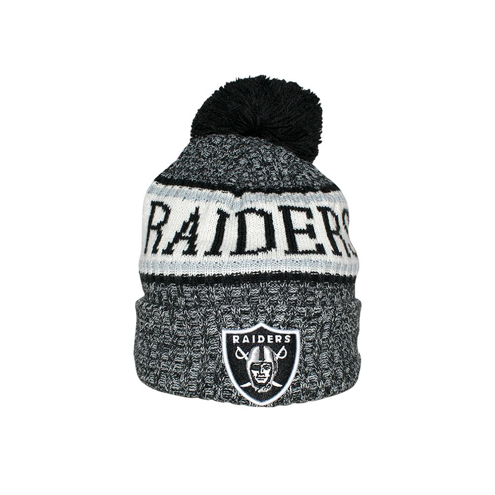 New Era - Oakland Raiders Sport Knit - Beanie - Black Pom