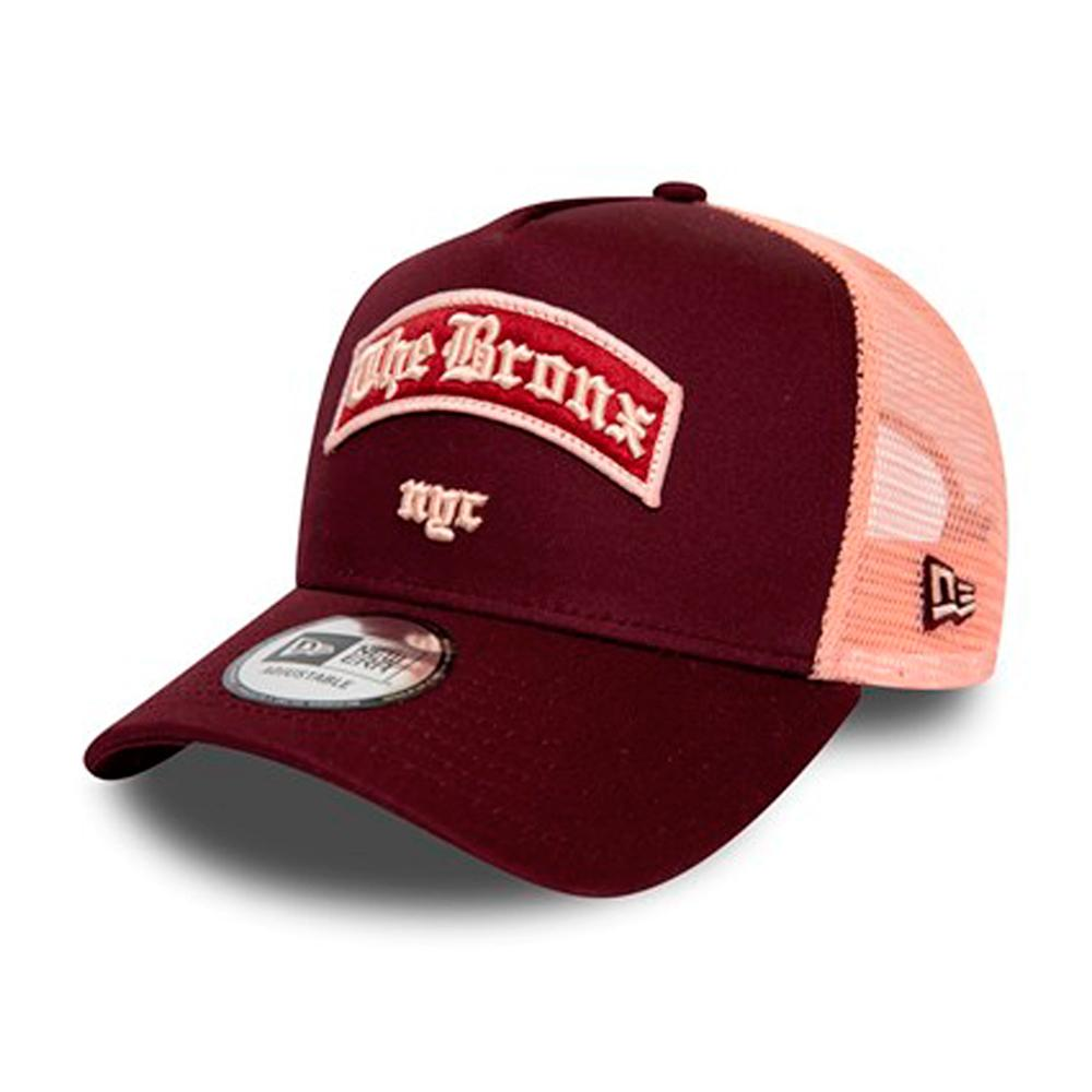 New Era - The Bronx NYC A Frame - Trucker/Snapback - Maroon/Pink