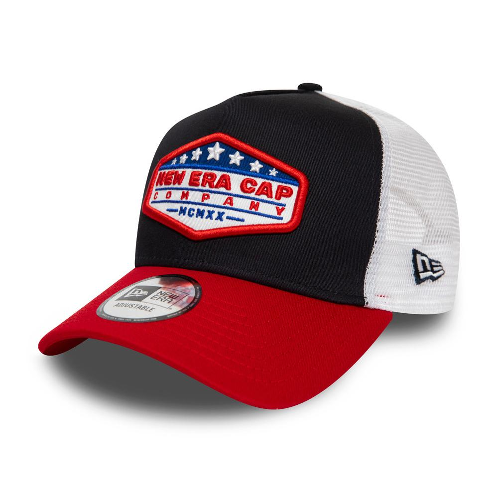 New Era - USA Star Patch Clean a Frame - Trucker/Snapback - Black/Red/White