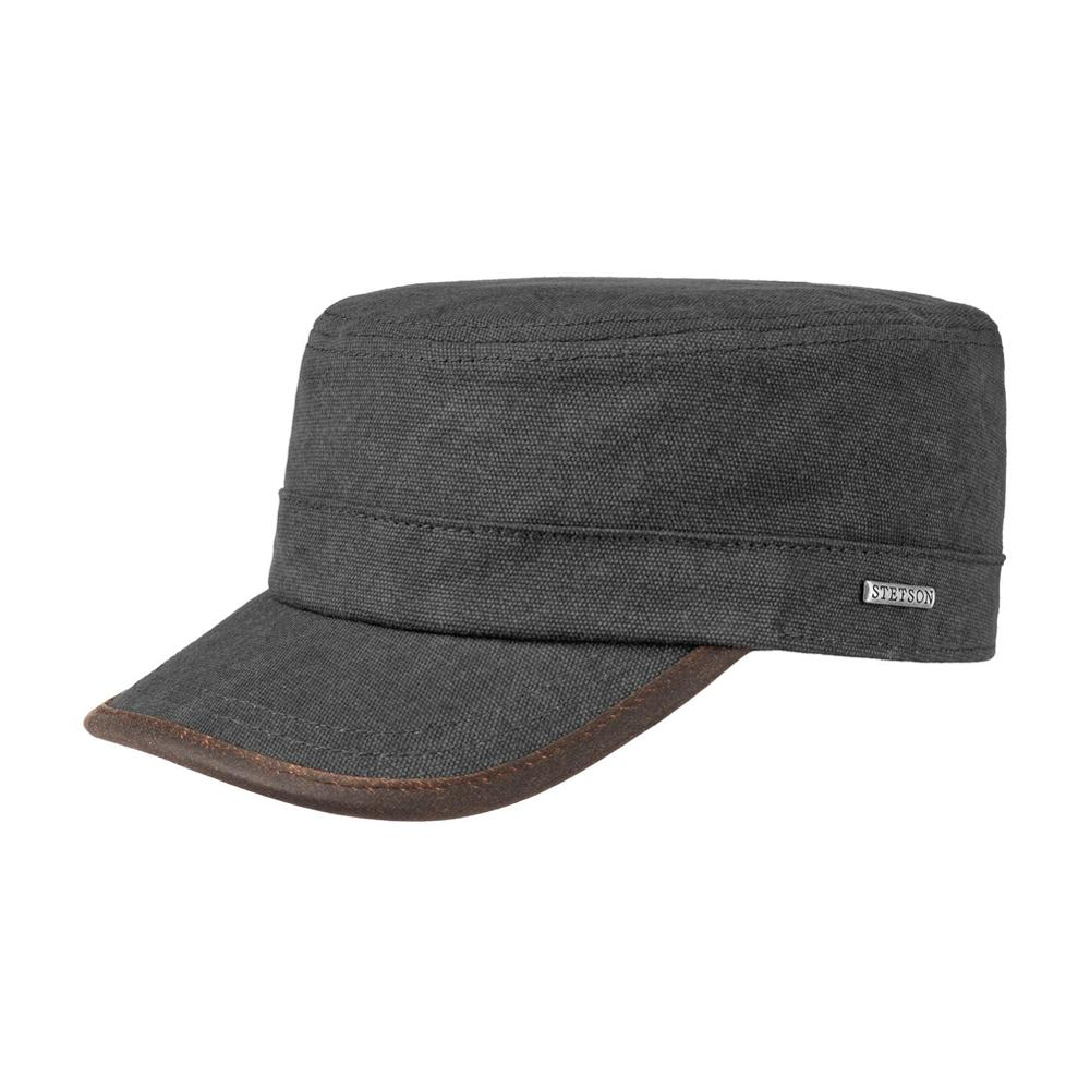 Stetson - Canvas Army Cap -  Adjustable - Black