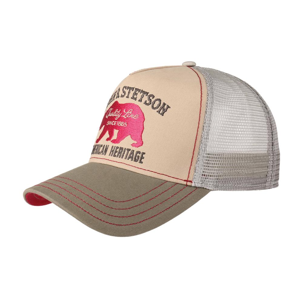 Stetson - Bear Trucker - Snapback - Tan/Grey/White
