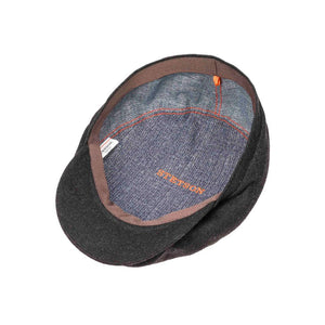 Stetson - Driver Cap Wool Cashmere - Sixpence/Flat Cap - Anthracite Grey