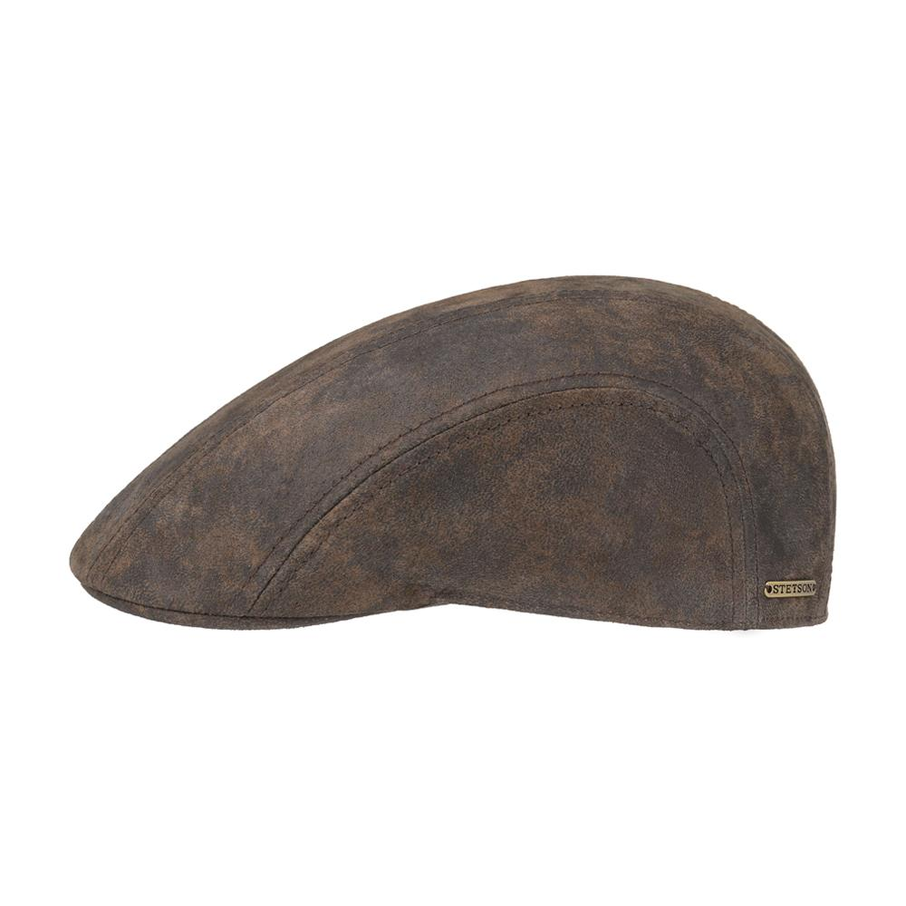 Stetson - Ivy Cap Pigskin - Sixpence/Flat Cap - Brown