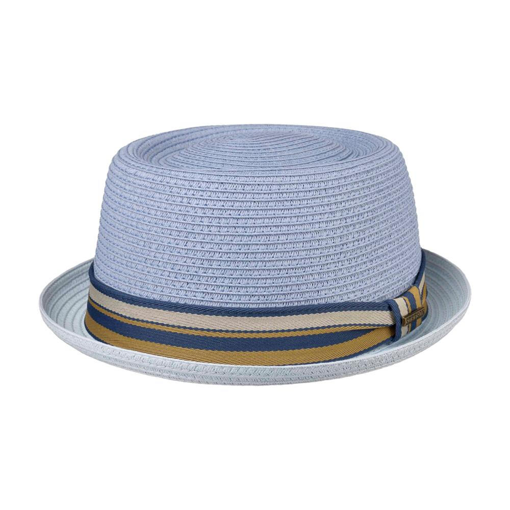 Stetson - Licano Toyo Pork Pie - Straw Hat - Light Blue