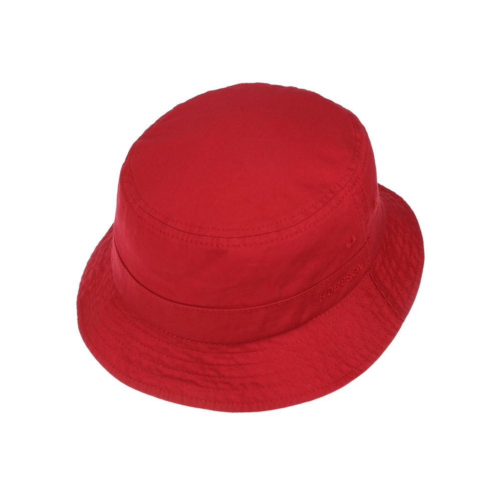 Stetson - Protection Cotton Twill - Bucket Hat - Red
