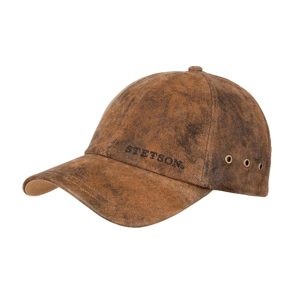 Stetson - Rawlins Pigskin Baseball Cap - Adjustable - Brown