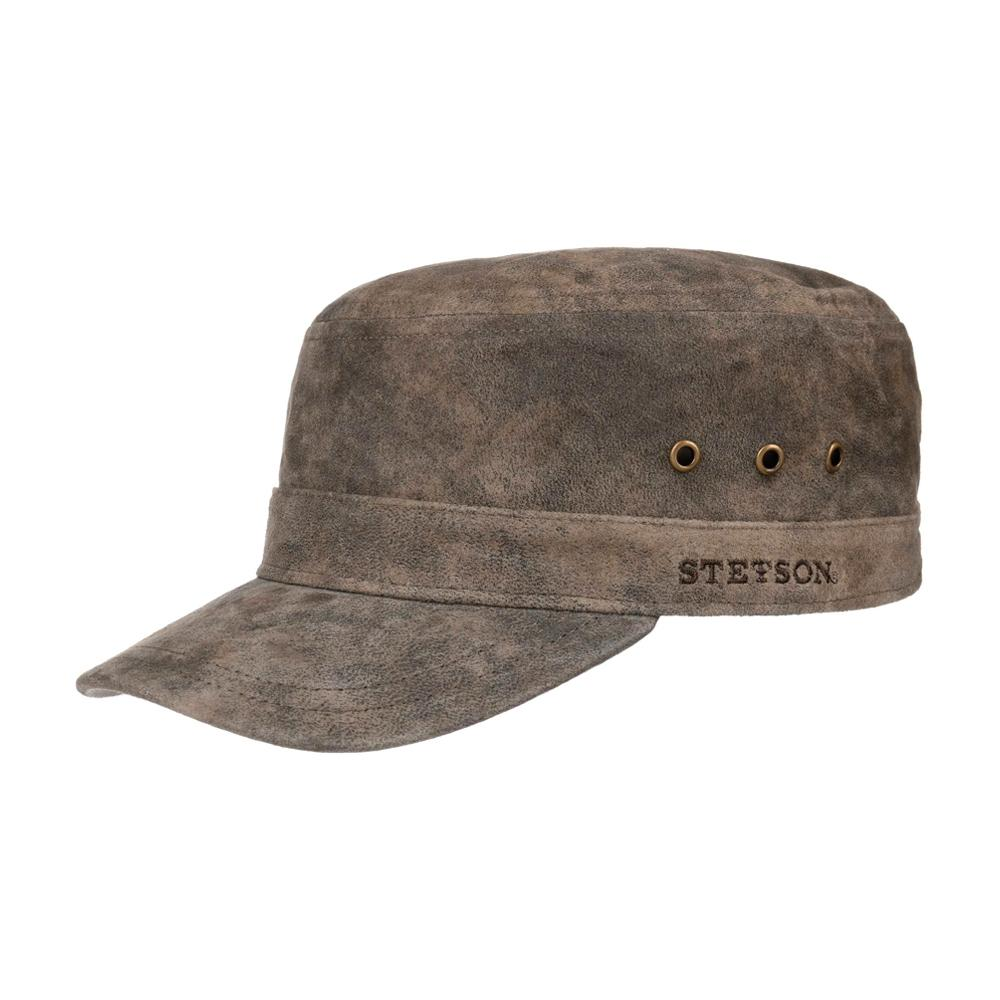 Stetson - Raymore Pigskin Army Cap - Adjustable - Dark Brown
