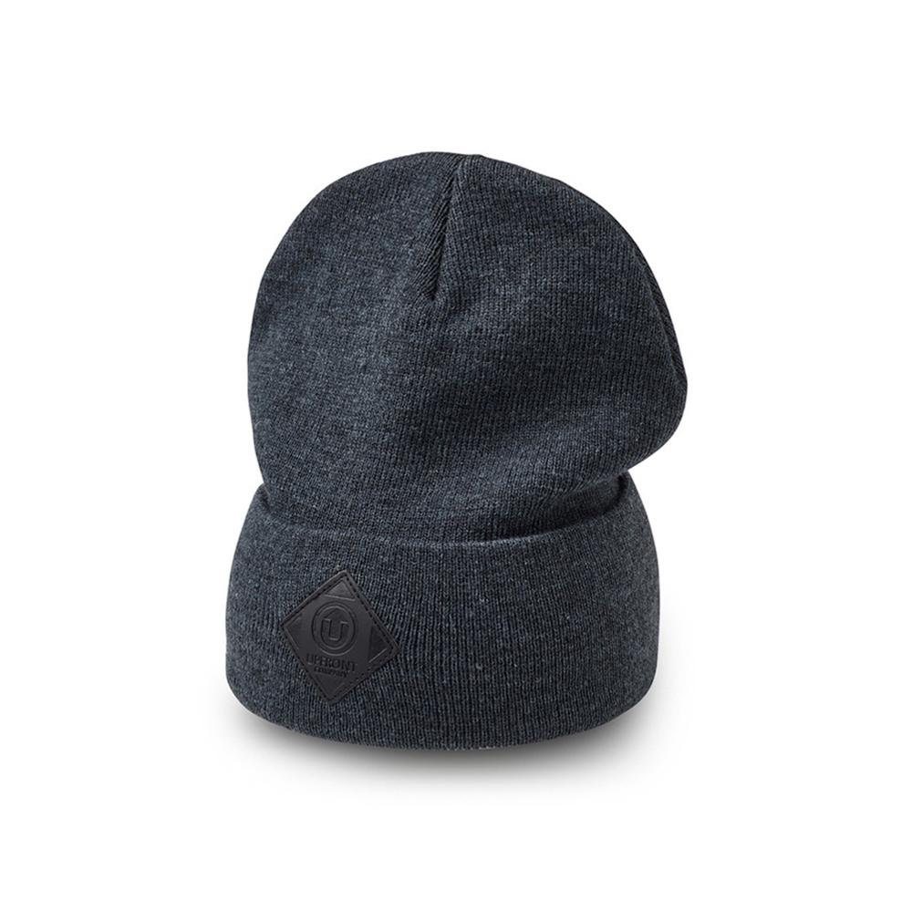 Upfront - Official 2 - Fold Up Beanie - Dark Grey/Black