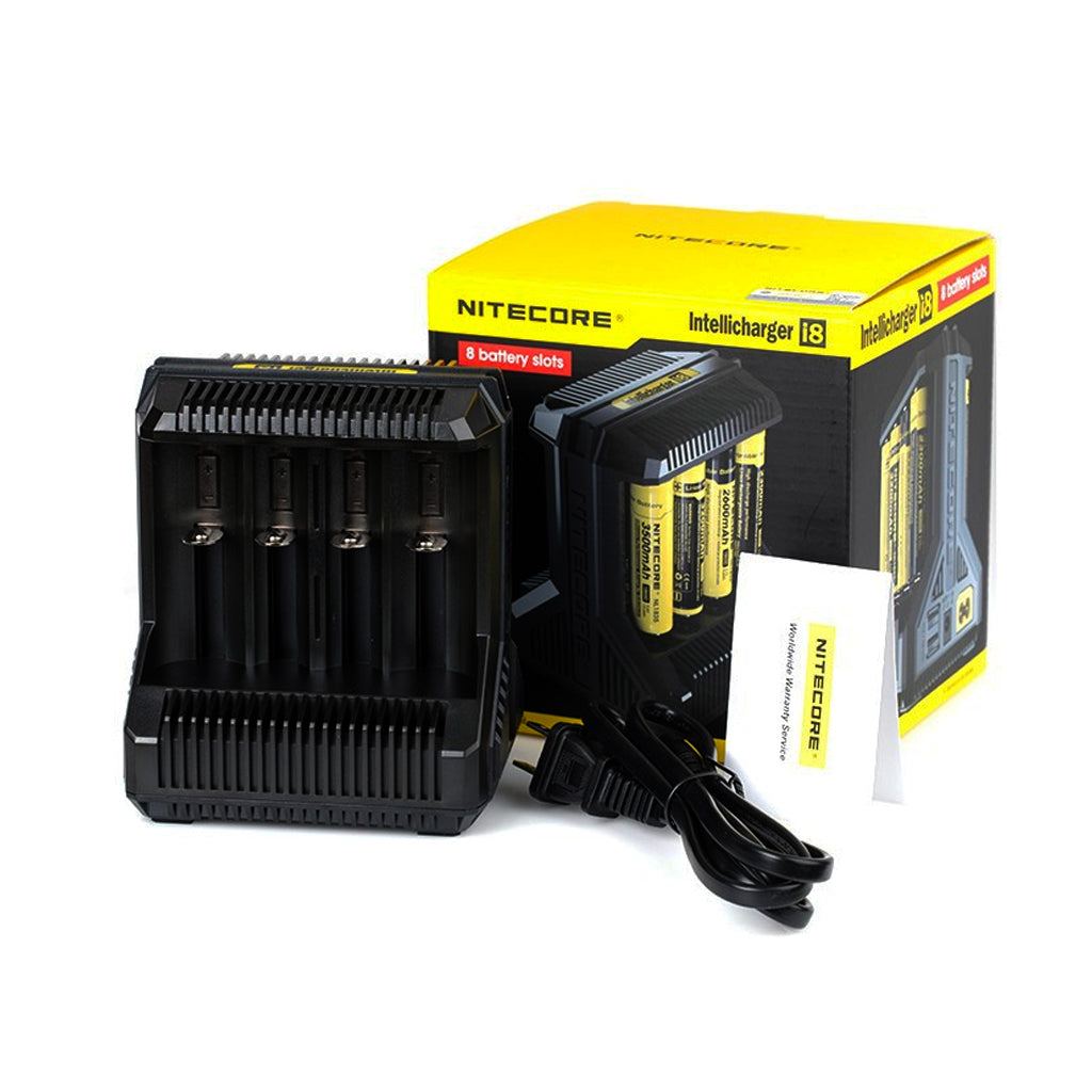 Nitecore I8 Charger - 8 Bay IMR Li-ion Battery Charger
