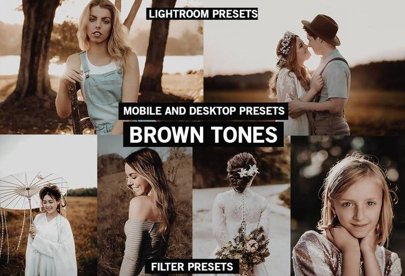 Cinematic Brown Tones Desktop and Mobile Lightroom Presets Lightroom Presets Thiago Vibesp