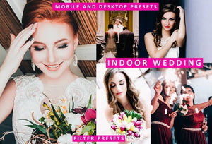 Cinematic Indoor Wedding Desktop & Mobile Lightroom Presets Lightroom Presets Thiago Vibesp