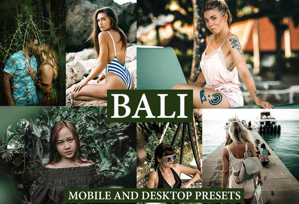 Cinematic Bali Desktop and Mobile Lightroom Presets Lightroom Presets Thiago Vibesp