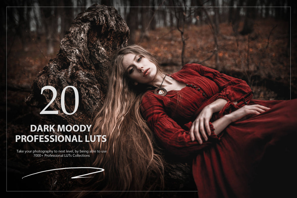 20 Dark Moody LUTs Pack