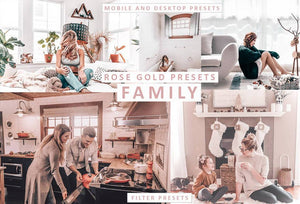 Bright & Airy ROSE GOLD Mobile and Desktop Lightroom Presets Lightroom Presets Thiago Vibesp