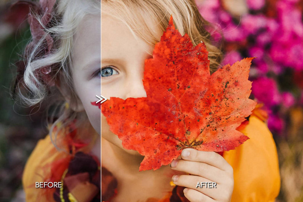Bright Warm AUTUMN Lightroom Presets Pack for Desktop & Mobile - One Click Photo Editing