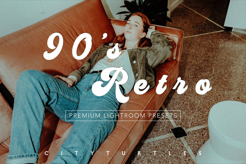 90'S RETRO Moody Lightroom Presets Pack for Desktop and Mobile - One Click Photographer Editing Tools