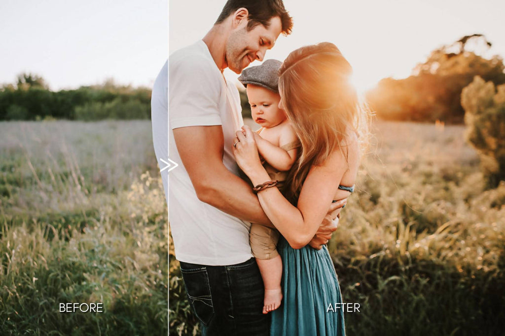 Natural Outdoor FAMILY Portrait Lightroom Presets Pack for Desktop & Mobile - One Click Photographer Editing Tools
