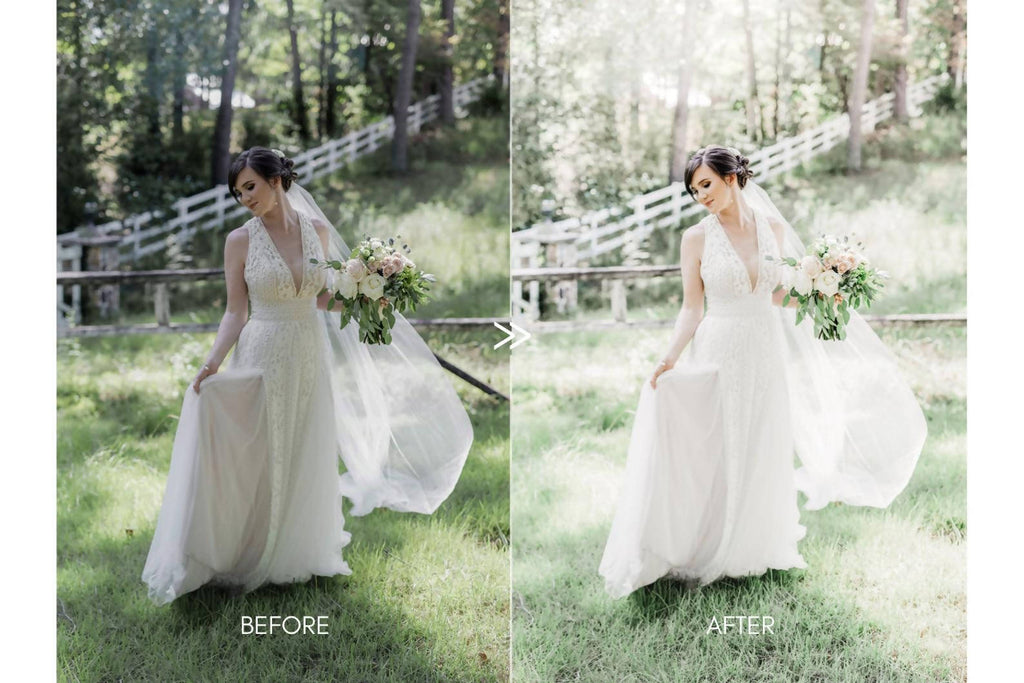 Light and Airy Wedding HIM & HER Fine Art Couples Lightroom Presets Pack for Desktop and Mobile - One Click Photographer Editing Tools