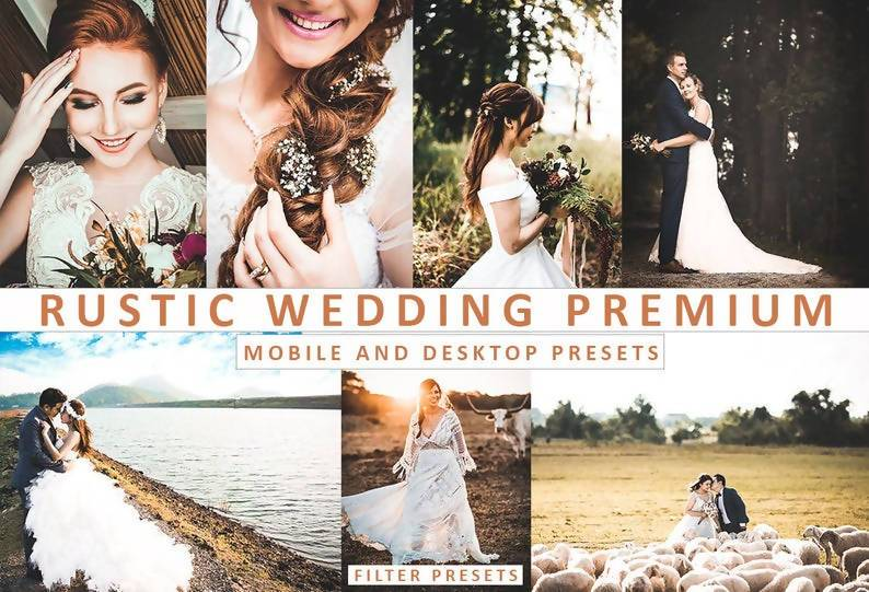 Rustic Wedding Desktop and Mobile Lightroom Presets Lightroom Presets Thiago Vibesp