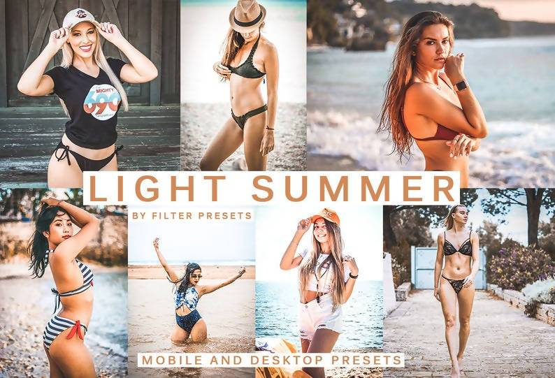Cinematic Light Summer Desktop & Mobile Lightroom Presets Lightroom Presets Thiago Vibesp