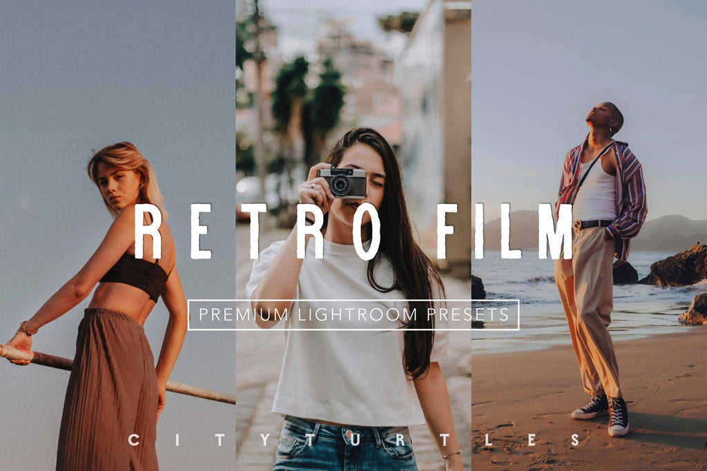 Moody RETRO FILM Color Lightroom Presets for Desktop & Mobile