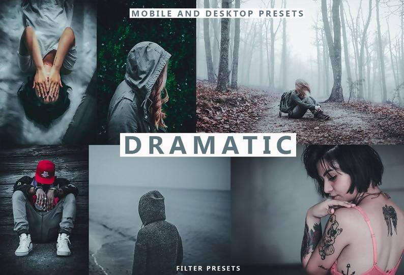 Cinematic Dramatic Desktop & Mobile Lightroom Presets Lightroom Presets Thiago Vibesp