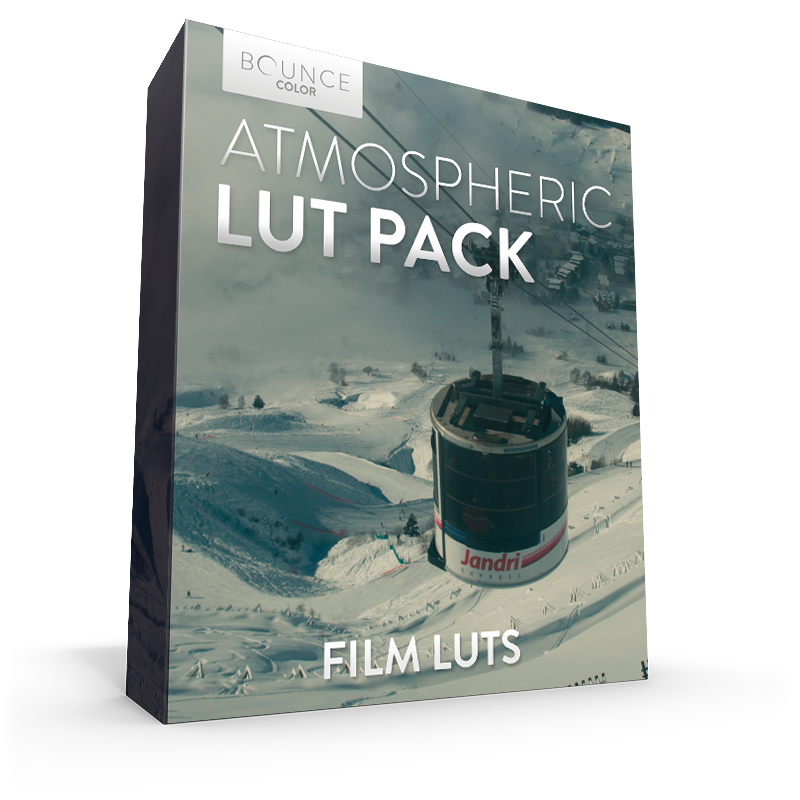 Film LUTs Atmospheric LUT Moody RED Arri Sony Panasonic GoPro Black Magic BMPCC4K