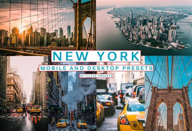 Cinematic New York Desktop & Mobile Lightroom Presets Lightroom Presets Thiago Vibesp