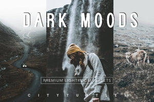 Moody Matte VSCO Film Inspired, Cinematic Adventure Lightroom Presets Pack for Desktop and Mobile - One Click Photographer Editing Tools