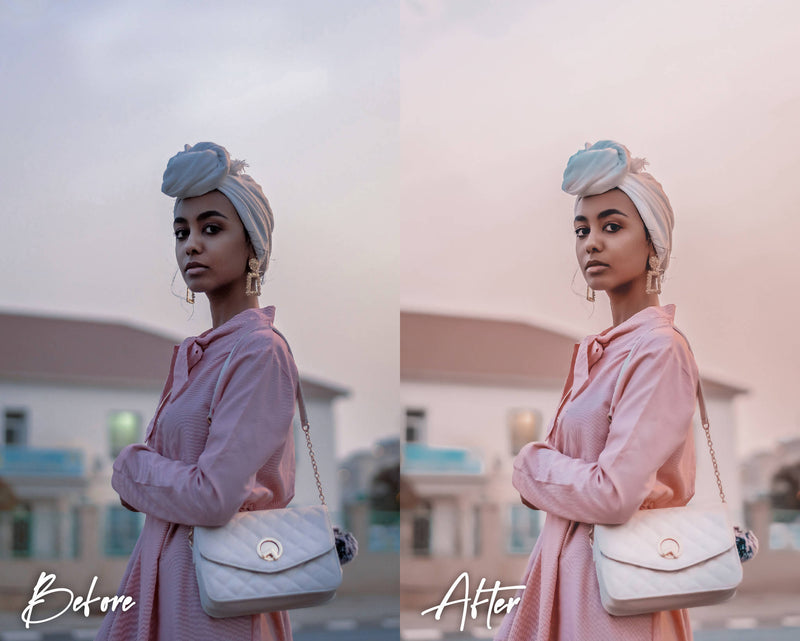 10 Lightroom Presets for Mobile & Desktop, Pink Presets