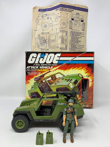 G.I. Joe VAMP Attack Vehicle Jeep with Box and Clutch COMPLETE (1982)